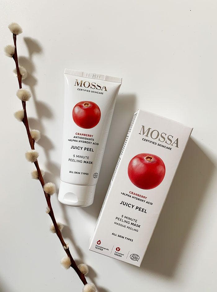 MOSSA Cranberry Juicy Peel 5 Minute Peeling Mask (Erfahrungsbericht auf Hey Pretty Beauty Blog – Naturkosmetik aus Lettland, die neu bei Your Green Boutique Schweiz erhältlich ist)