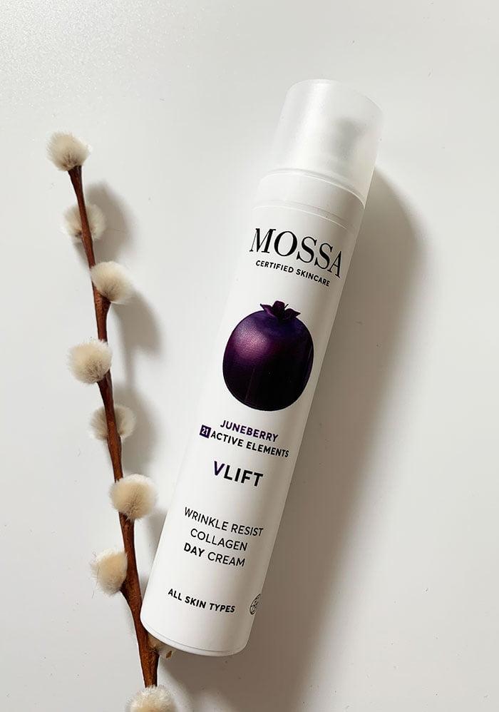MOSSA Certified Organic Skincare Juneberry VLIFT Wrinkle Resist Collagen Day Cream (Erfahrungsbericht auf Hey Pretty Beauty Blog – Naturkosmetik aus Lettland, die neu bei Your Green Boutique Schweiz erhältlich ist)
