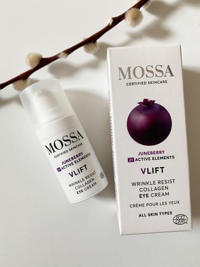 MOSSA VLIFT Wrinkle Resist Collagen Eye Cream with Juneberry (Erfahrungsbericht auf Hey Pretty Beauty Blog – Naturkosmetik aus Lettland, die neu bei Your Green Boutique Schweiz erhältlich ist)