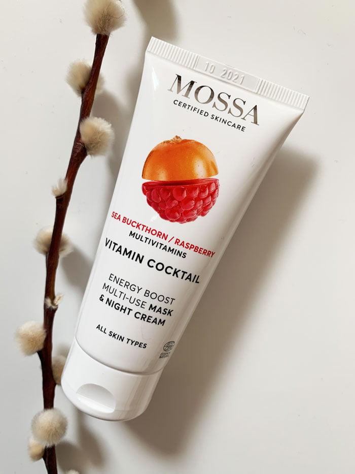 MOSSA Vitamin Cocktail Sea Buckthorn & Raspberry Energy Boost Multi-Use Mask & Night Cream (Erfahrungsbericht auf Hey Pretty Beauty Blog – Naturkosmetik aus Lettland, die neu bei Your Green Boutique Schweiz erhältlich ist)