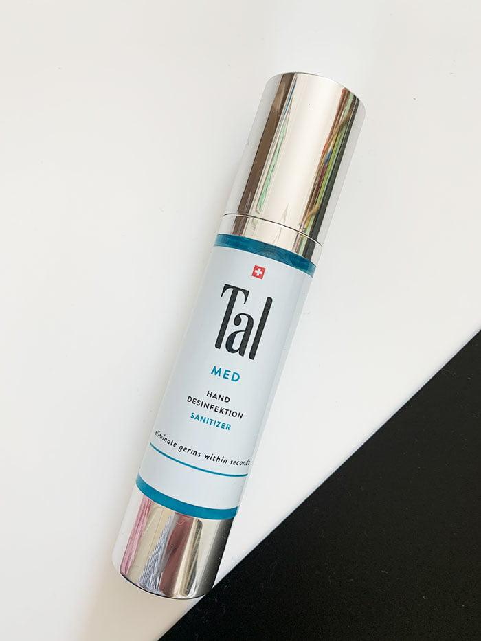 Tal MED Hand-Desinfektion Sanitizer (Hey Pretty Beauty Blog Review: Handpflege der Schweizer Marke Tal, mit Gewinnspiel)