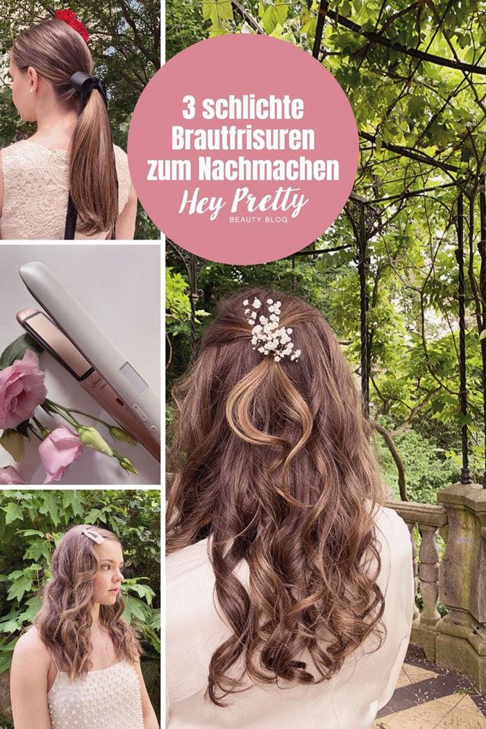 3 einfache DIY Brautfrisuren zum Selbermachen (Hochzeitsfrisuren ganz einfach) – Hey Pretty Beauty Blog Tutorial