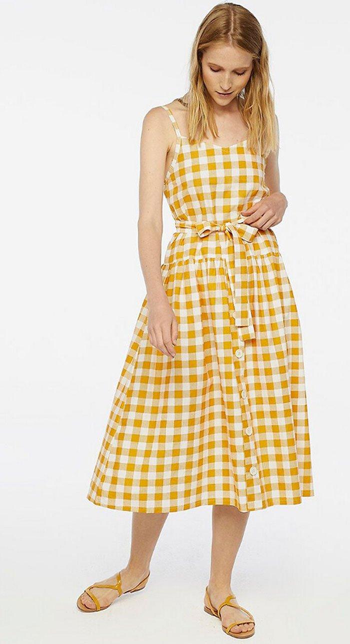 Gelb kariertes Baumwollkleid von La Redoute (Hey Pretty Fashion Flash Mai 2020: 20 sommerliche Lieblingsstücke)