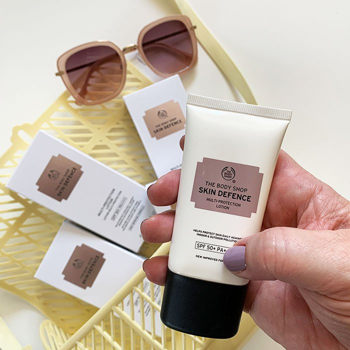 Leichter Sonnenschutz fürs Gesicht: 9 federleichte Lieblinge von Hey Pretty: THE BODY SHOP Skin Defence Multi-Protection Lotion SPF 50+