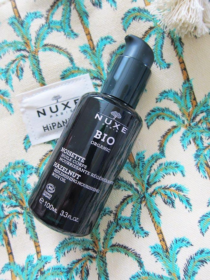 Nuxe Bio Nährendes regenerierendes Körperöl Haselnuss – Alles, was du über die Nuxe Bio Pflegelinie wissen musst: Erfahrungsbericht auf Hey Pretty