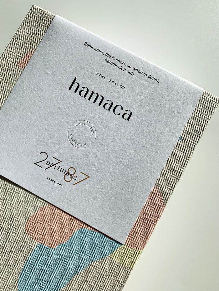 27 87 Perfume, Verpackung von Hamaca Eau de Parfum – Duft-Review und Interview mit Romy Kowalewski auf Hey Pretty Beauty Blog Schweiz (Hamaca, Wandervogel und Sonar)