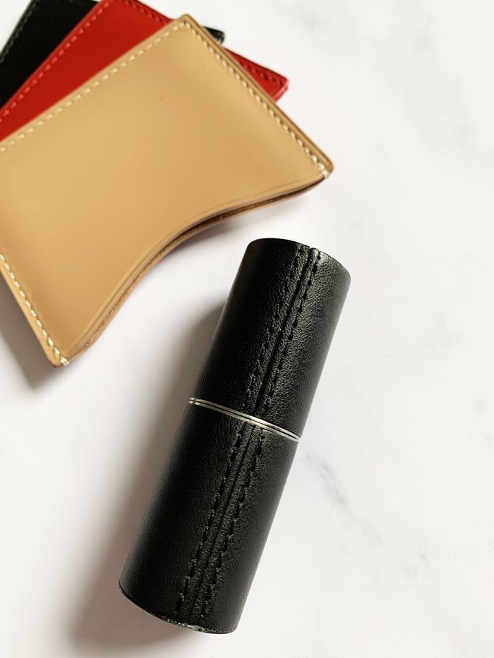 Hey Pretty Review La Bouche Rouge Lipstick Fine Leather Case