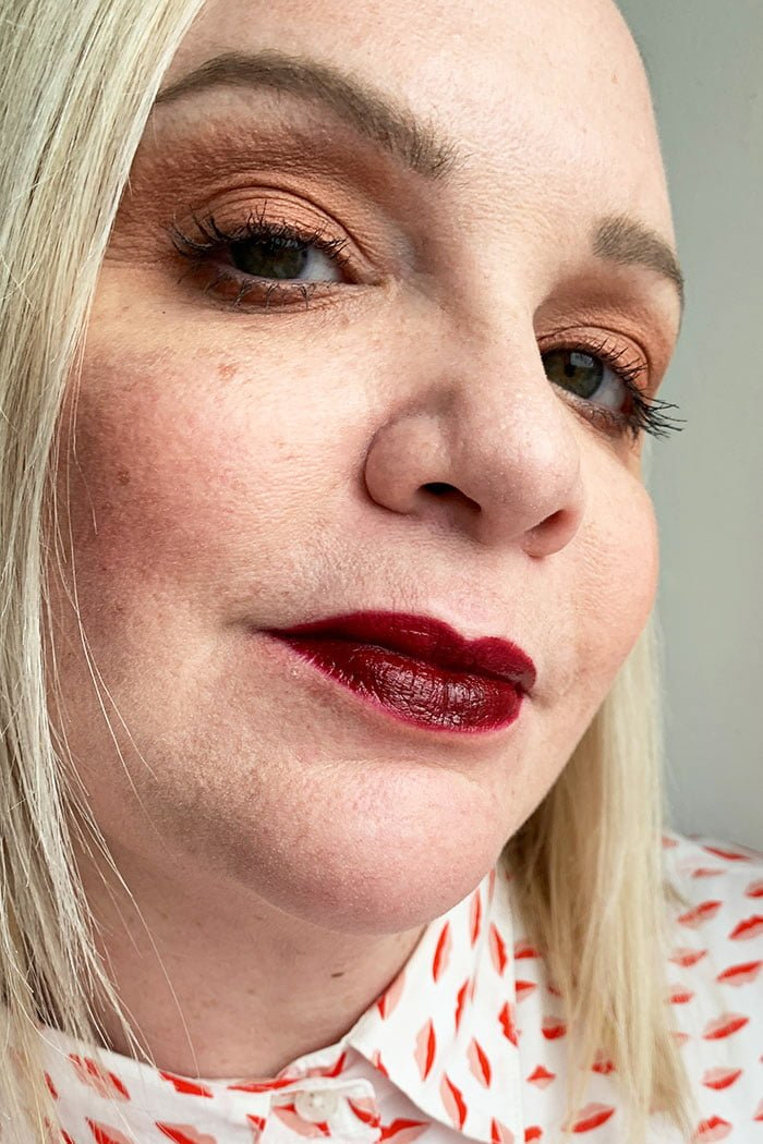 Hey Pretty Review La Bouche Rouge Lipstick Plum Swatch