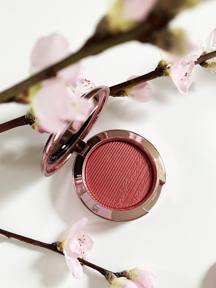 Hey Pretty Review MAC Makeup Black Cherry Extra Dimension Blush Under My Plum