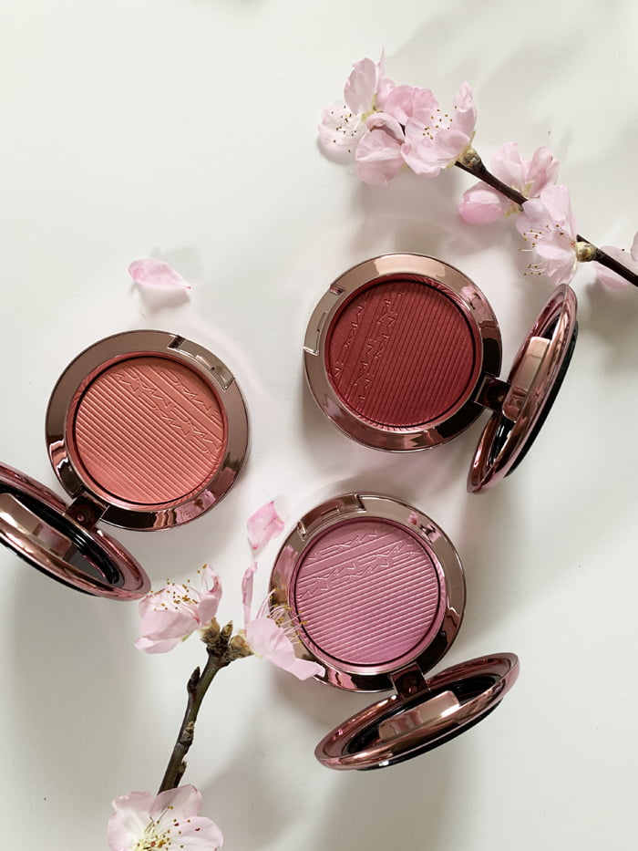 Hey Pretty Review MAC Makeup Black Cherry Extra Dimension Blushes