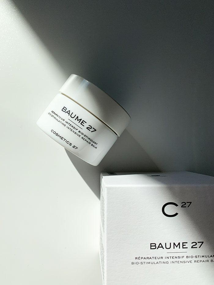 Cosmetics 27 BAUME 27 Bio-Stimulating Intensive Repair Balm (Erfahrungsbericht und Interview auf Hey Pretty Schweiz)