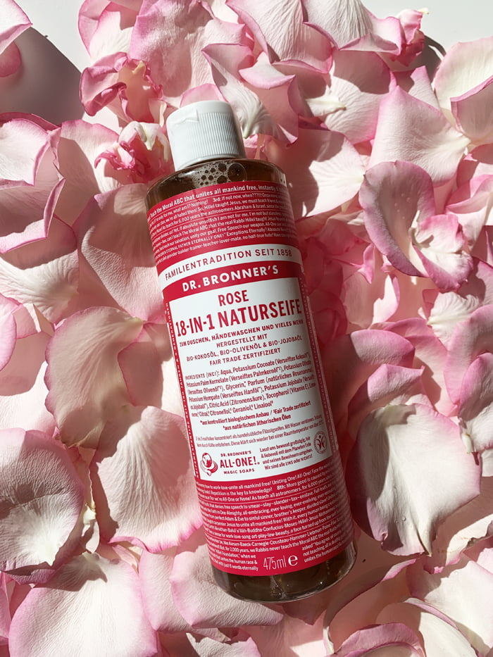 Hey Pretty Beauty Blog Review Kultkosmetik Rose Dr. Bronner's Rose 18-in-1 Naturseife