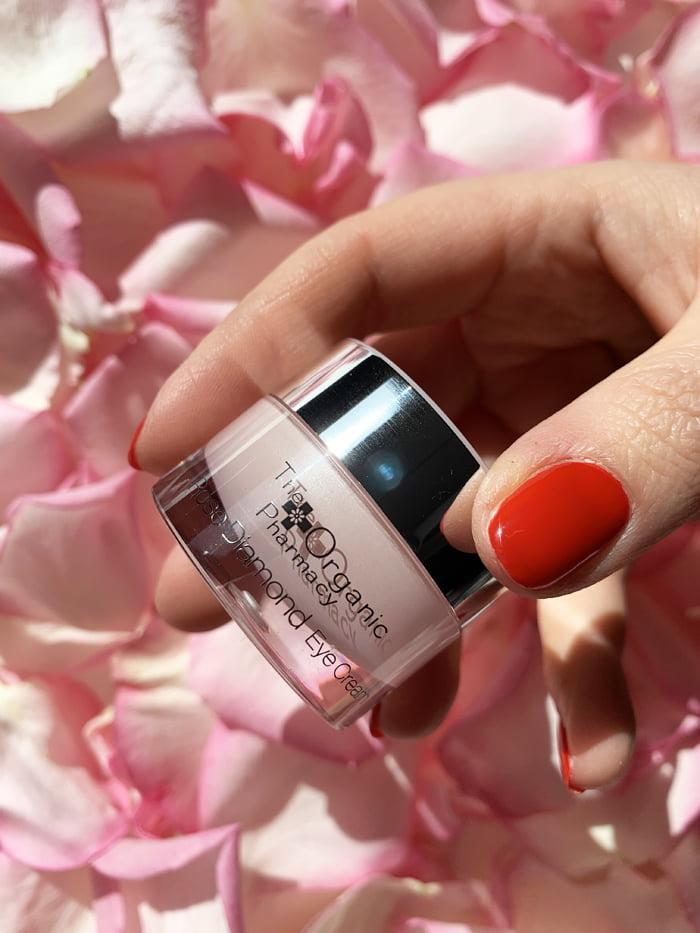 Hey Pretty Beauty Blog Review Kultkosmetik Rose The Organic Pharmacy Rose Diamond Eye Ceam