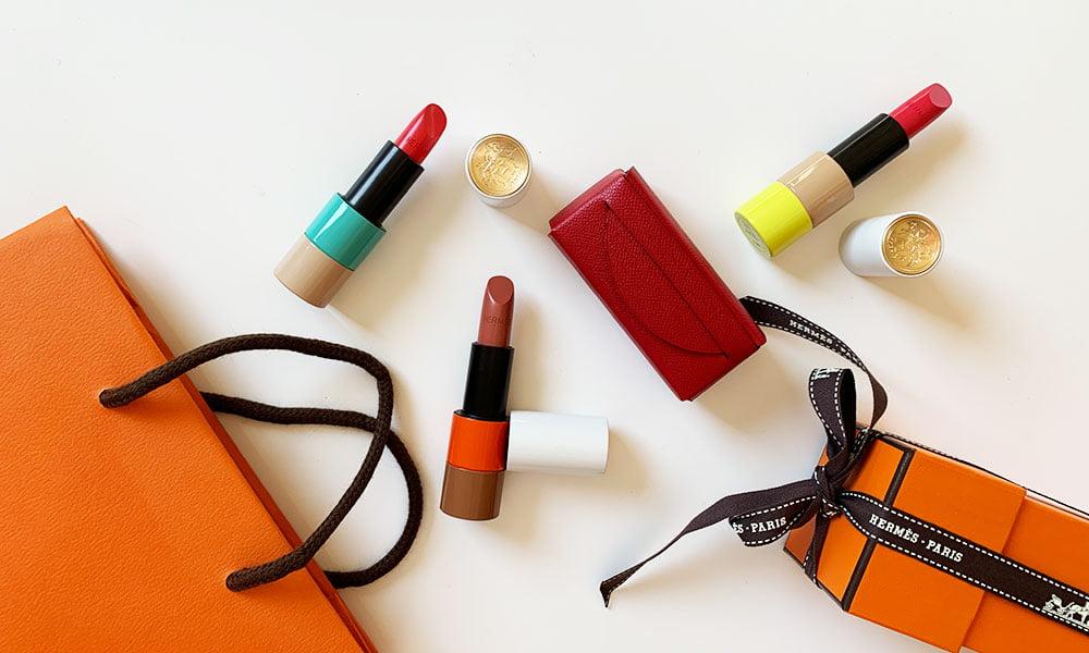 Rouge Hermès Lippenstifte – Limited Edition Kollektion 2021 und Leder Etui mit Spiegel (Review auf Hey Pretty Beauty Blog Schweiz)