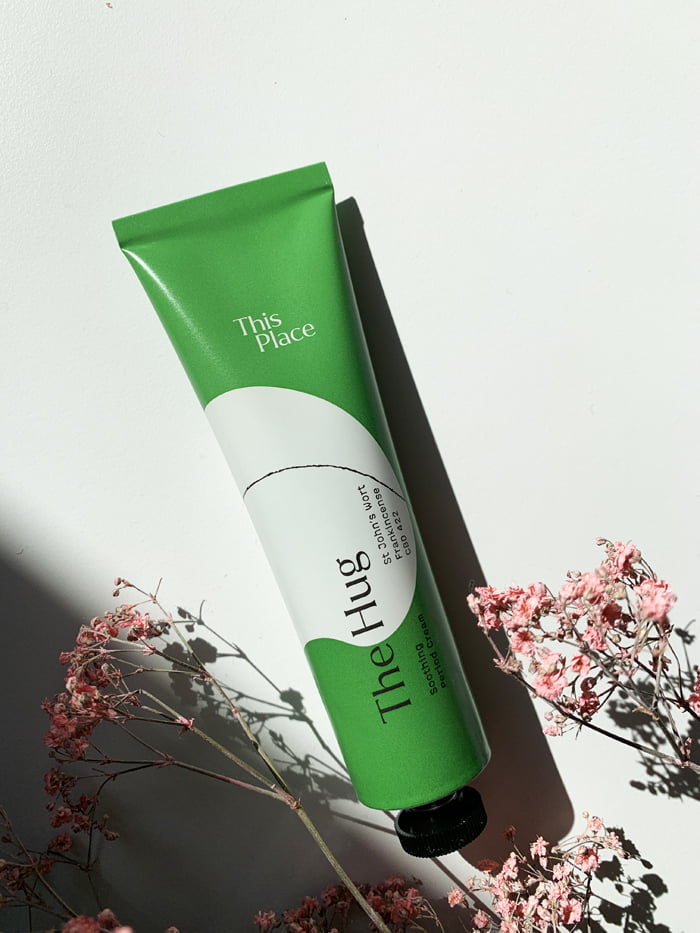 Hey Pretty Beauty Blog Review This Place CBD Skincare Wellbeing The Hug Period Cream